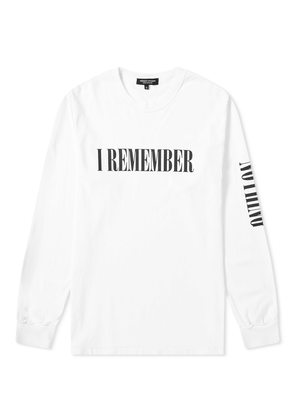 Midnight Studios Long Sleeve I Remember Nothing Tee White