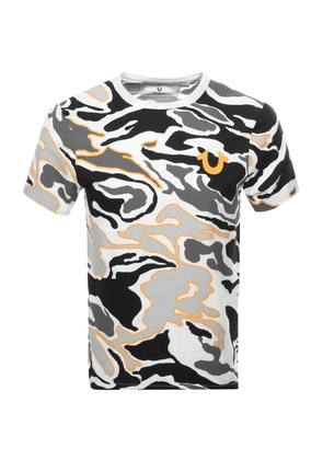 True Religion Camo Buddha T Shirt White