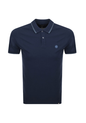 Pretty Green Barton Tipped Polo T Shirt Navy