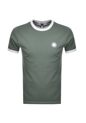 Pretty Green Milford Crew Neck T Shirt Green