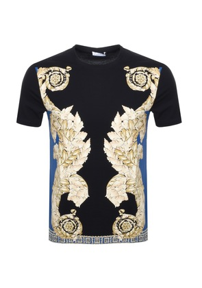 Versace Collection Crew Neck Baroque T Shirt Black