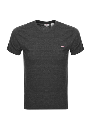 Levis Original Crew Neck Logo T Shirt Grey