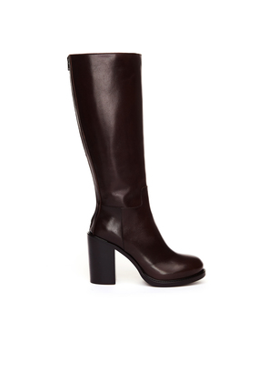 Brown Leather Heeled Boots