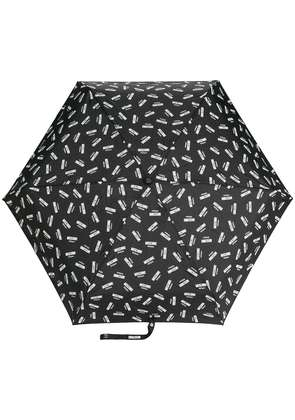 Moschino logo printed umbrella - Black