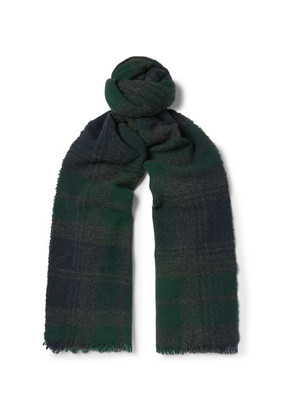 Begg & Co - Beaufort Fringed Checked Lambswool And Cashmere-blend Scarf - Multi