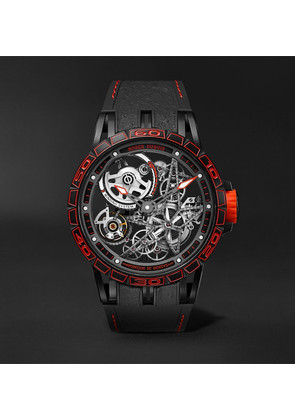 Excalibur Spider Pirelli Limited Edition Automatic Skeleton 45mm Titanium And Rubber Watch