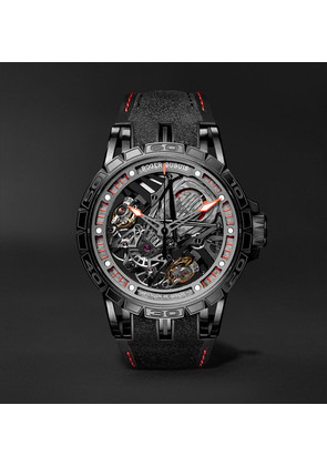 Excalibur Aventador S Limited Edition Automatic Skeleton 45mm Titanium And Rubber Watch