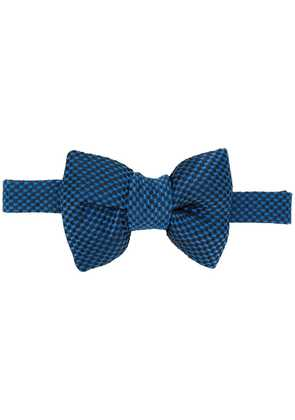 Tom Ford micro dot bow tie - Blue