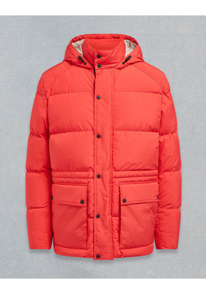 Belstaff Tallow Hooded Padded Jacket Red