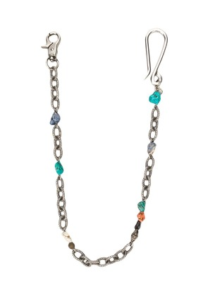 Andrea D'amico chainlink and beads keyring - Silver