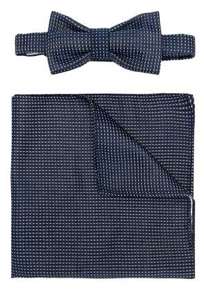 Fefè bow-tie pocket square set - Blue
