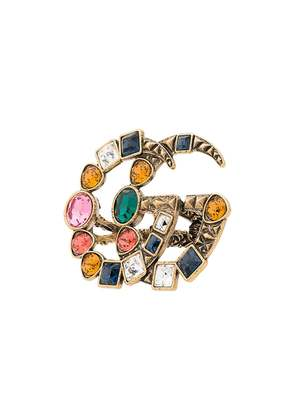Gucci GG crystal embellished ring - Multicolour