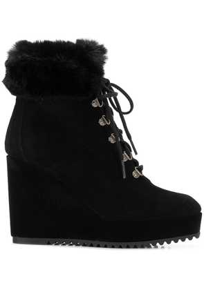 Castañer lace-up wedge boots - Black