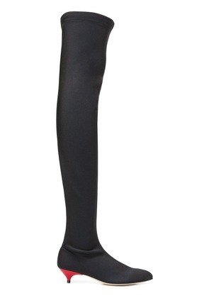 Gia Couture thigh-high boots - Black
