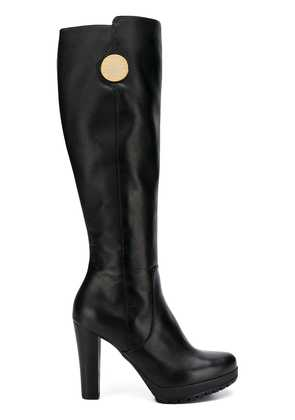 Emporio Armani chunky high heeled boots - Brown