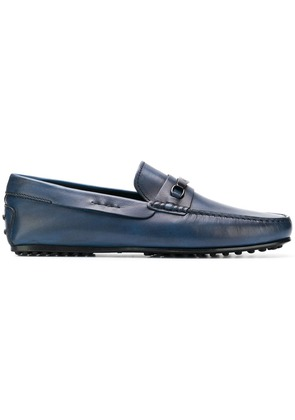 Tod's logo slip-on loafers - Blue
