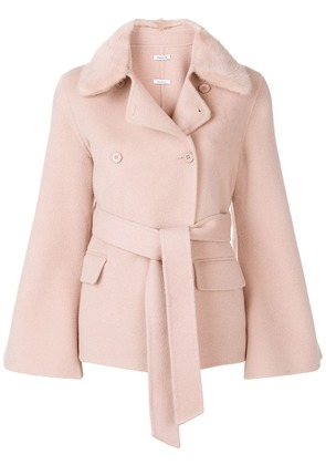 P.A.R.O.S.H. double-breasted belted coat - Pink
