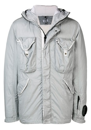 CP Company Goggle hooded down jacket - Grey
