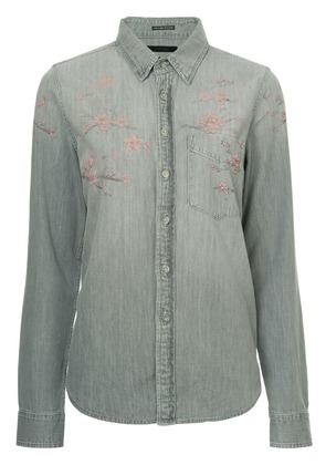 Mother floral print denim shirt - Grey