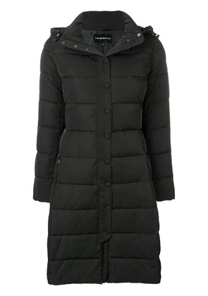 Emporio Armani puffer loose coat - Black