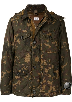 CP Company hooded camouflage jacket - Brown
