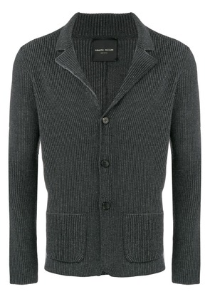 Roberto Collina classic fitted cardigan - Grey