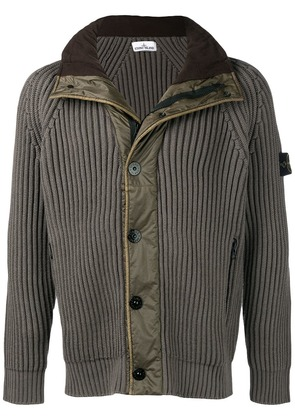 Stone Island knitted button-down cardigan - Green