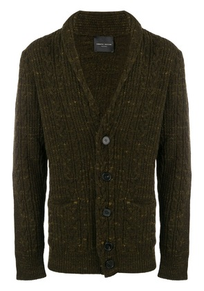 Roberto Collina long-sleeve fitted cardigan - Green
