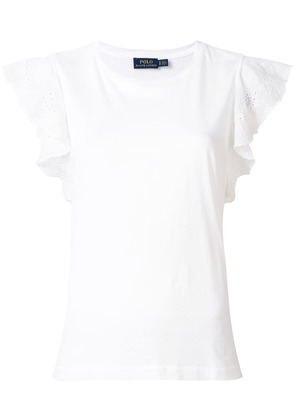 Polo Ralph Lauren ruffled sleeve top - White