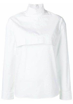 Cédric Charlier layered front blouse - White