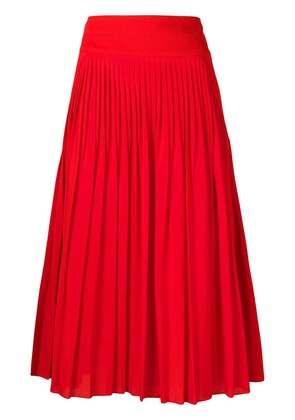 Givenchy high-waisted pleated skirt - Red