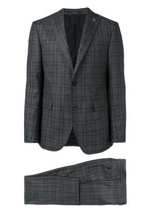 Tagliatore checked two-piece suit - Grey