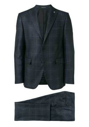 Tagliatore checked two-piece suit - Blue