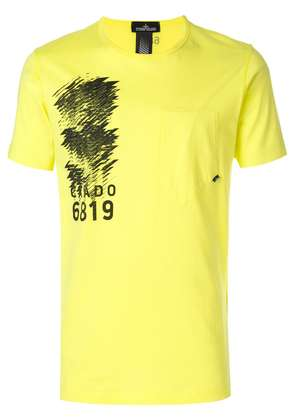 Stone Island Shadow Project pocket crew neck T-shirt - Yellow