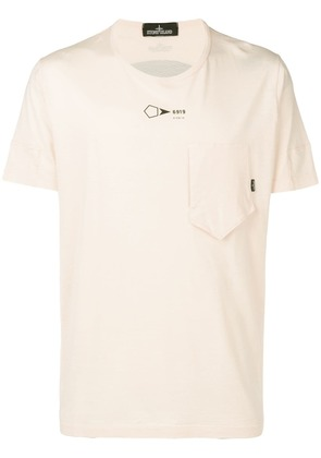 Stone Island Shadow Project chest pocket detail T-shirt - Orange