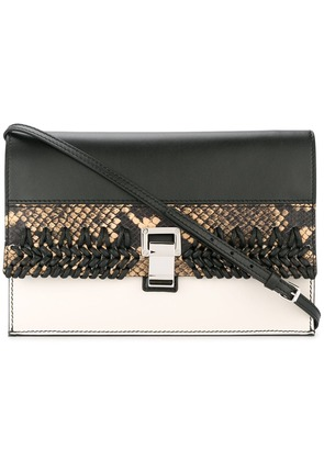 Proenza Schouler Small Lunch Bag w. Strap Embossed Python w Crochet -