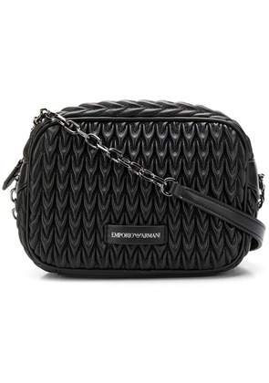 Emporio Armani quilted drop shoulder bag - Black