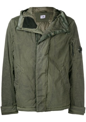 CP Company lens detail hooded jacket - Green
