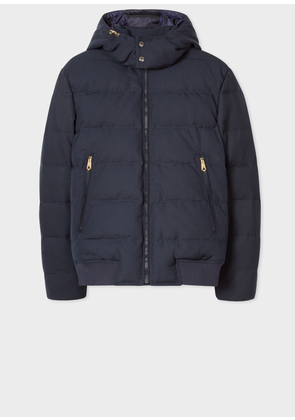 Men's Loro Piana Rain System® Navy Down-Filled Jacket With Gradient 'Artist Stripe' Lining
