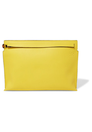 Loewe - T Two-tone Leather Pouch - Yellow