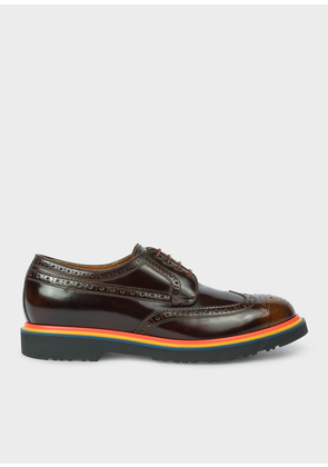 Men's Tan High-Shine Leather 'Crispin' Brogues