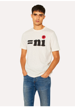 Paul Smith x FULLCOUNT - Men's Ecru 'ni' Print T-Shirt