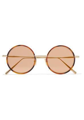 Acne Studios - Scientist Round-frame Tortoiseshell Acetate And Gold-tone Sunglasses - Brown