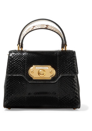 Dolce & Gabbana - Welcome Small Python Tote - Black
