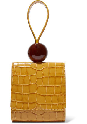 BY FAR - Ball Croc-effect Leather Tote - Yellow