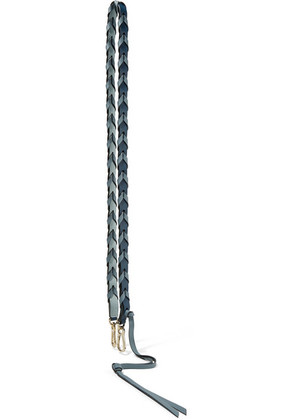 Loewe - Braided Two-tone Textured-leather Bag Strap - Blue