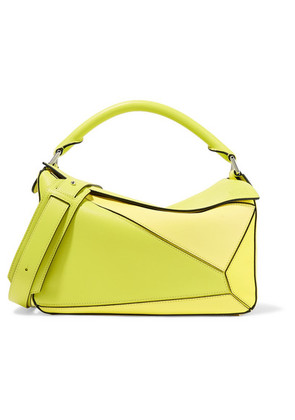 Loewe - Puzzle Small Color-block Textured-leather Shoulder Bag - Yellow