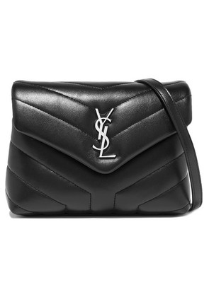 Saint Laurent - Loulou Quilted Leather Shoulder Bag - Black