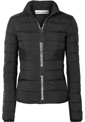 Paco Rabanne - Stretch-knit Paneled Quilted Shell Down Jacket - Black