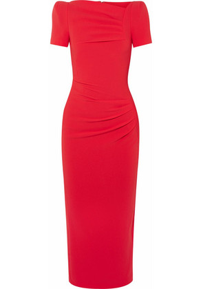 Talbot Runhof - Noomi Crepe Midi Dress - Crimson